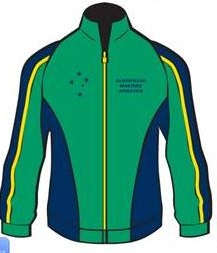 Ladies tracksuit top front image