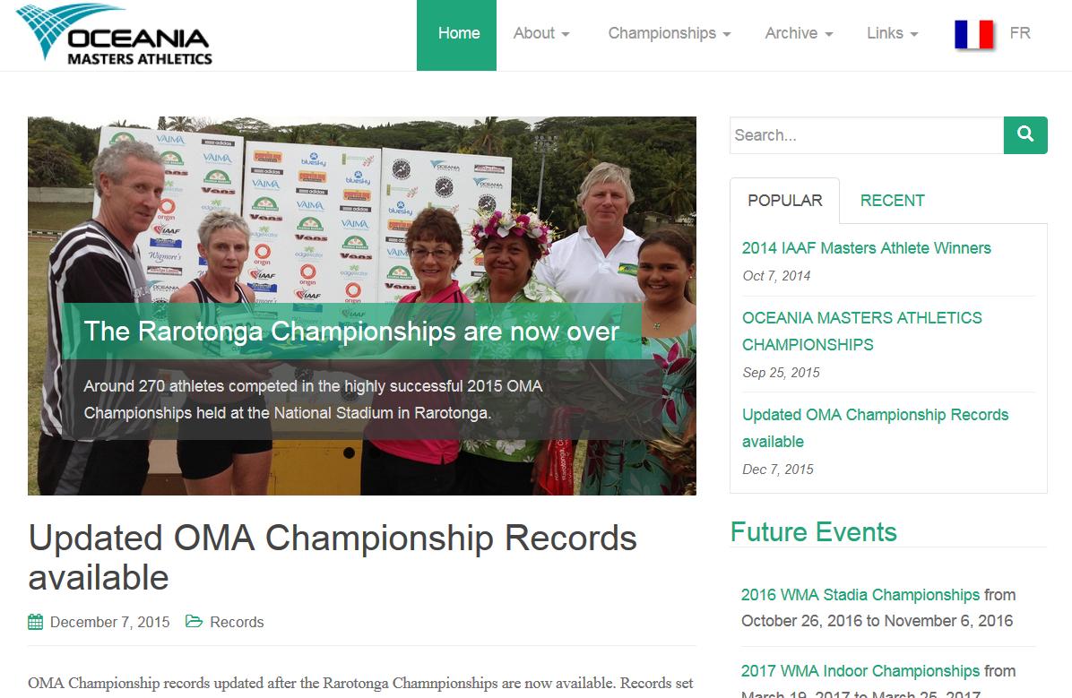 OMA homepage screenshot