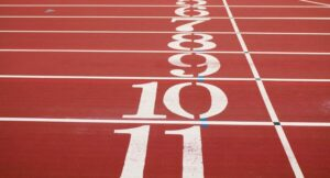 athletics track finish line image