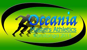 Oceania Masters Athletics 2015 logo